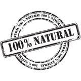 %100 de natuurlijke achtergrond van de grunge rubberzegel Stock Afbeelding