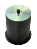 100 discs isolated Royalty Free Stock Photo