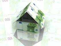 100 dolarów to dom Zdjęcie Royalty Free