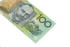 100 Dollar Australian banknote Royalty Free Stock Photography