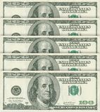 100 dollar banknotes Stock Photography