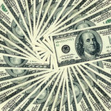 100 dollar banknotes around. Royalty Free Stock Images