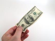 100 dollar betalning Arkivbild