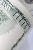 100 dollar bill. Close up of hundred dollar bill Stock Photos