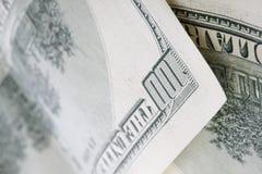 100 dollar bill. Close up of hundred dollar bill Royalty Free Stock Image
