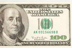 100 Dollar Bill Abstract Royalty Free Stock Image
