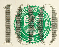 100 Dollar Bill Abstract Royalty Free Stock Photos