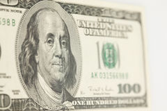 100 Dollar Bill Abstract Royalty Free Stock Photo
