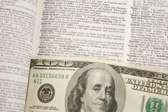 100 Dollar Bill Abstract - business Stock Photo