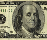 100 dollar bill, Mr. Ben Frank Royalty Free Stock Photo