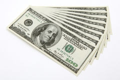 100 dollar bills Stock Image