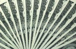 100 dollar bills. Fan stack royalty free stock image