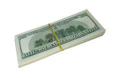 100 Dollar Bills Stock Photo