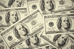 $100 dollar bills Stock Photo