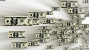 100 dollar bills flying, stock footage stock footage