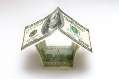 100 dollar bills home Stock Photo