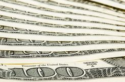 100 dollar bills macro. 100 dollar bills' sign 100 - macro shooting Royalty Free Stock Images