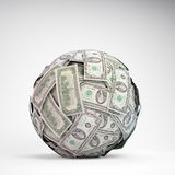 100 dollar bills sphere. A ball made out of 100 dollar bills Royalty Free Stock Photography