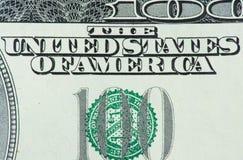 100 Dollar Makro Stockfotografie