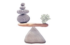 100 Dollar On The Balancing Rocks Royalty Free Stock Photo