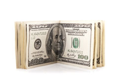 100 dollar packe Arkivfoton