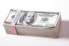 100 dollar pengar Royaltyfri Bild
