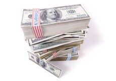 100 dollar pengar Fotografering för Bildbyråer