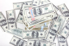 100 dollar pengar Royaltyfria Foton