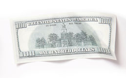 100 dollar pengar Royaltyfria Bilder