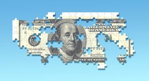100 dollar puzzle. An image of a 100 dollar puzzle Stock Images