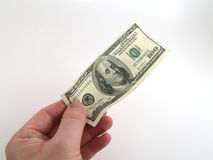 100 dollarbetaling Stock Fotografie