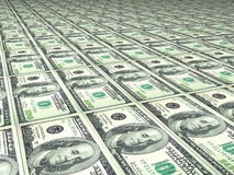 100 Dollarfliesen Stockbild