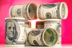 100 dollari Fotografie Stock Libere da Diritti