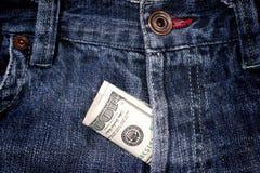 100 dollari in mosca Fotografia Stock Libera da Diritti