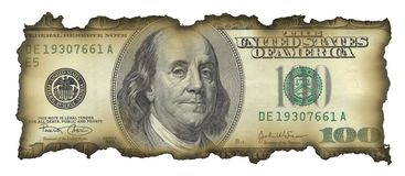 100 dollarrekening Stock Fotografie
