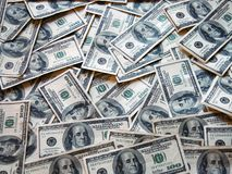 100 Dollars Banknotes Royalty Free Stock Photos