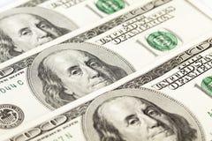 100 dollars banknotes. View of 100 dollars banknotes Stock Images