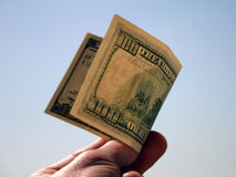100 dollars bill Royalty Free Stock Photography