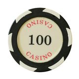 100 dollars de puce de casino Photographie stock