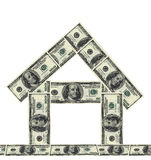 100 dollars money house Royalty Free Stock Photography