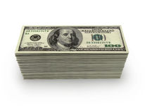 100 dollars wad Stock Photography