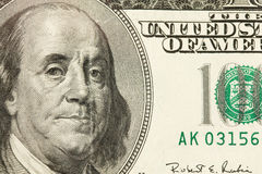 100 Dollarschein-Auszug Stockfotografie