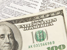 100 Dollarschein-Auszug - Habsucht Lizenzfreie Stockfotografie