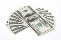 100 dollarsrekeningen Stock Foto's