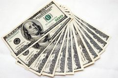 100 dollarsrekeningen Stock Fotografie