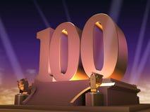 100 ekranowy złoty styl Fotografia Stock