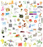 100 elementi di disegno Fotografie Stock