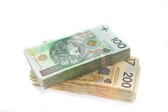 100 en 200 Zlotys, Polen Royalty-vrije Stock Foto's
