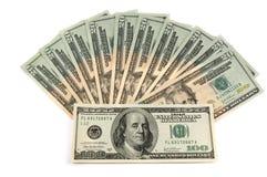 $100 et $20 billets de banque Photos stock