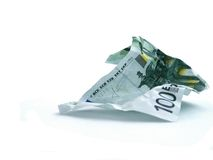 100 Euro. Wasting 100 Euro in no time royalty free stock photos